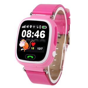 OBTNL B11 GSM GPRS GPS Locator Anti-Perdu Smart Watch Tracker pour iOS / Android, en cuir ou en plastique livraison aléatoire de bande (rose) SO266064-20