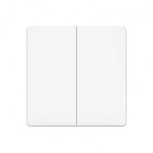 Original Xiaomi Aqara Smart contrôle de la lumière Double Paste Mur style sans fil commutateur, travail avec Xiaomi multifonctionnel Gateway (CA1001) Mihome APP contrôle (blanc) SO32071896-20