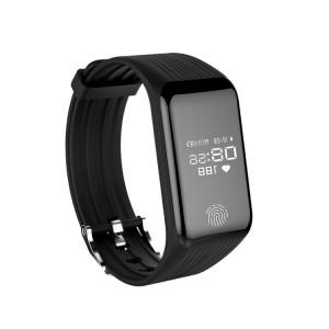 TLW B3 Fitness Tracker 0,66 pouces OLED Bracelet Bracelet à puce, IP67 Étanche, Mode Sport Support / Moniteur de Fréquence Cardiaque Continue / Moniteur de Sommeil / Rappel d'Information (Noir) SH214B1505-20