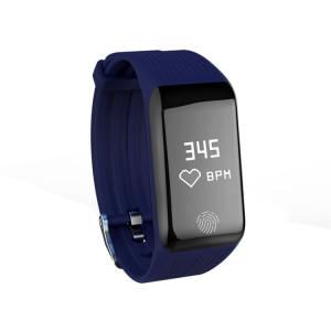 TLW B3 Fitness Tracker 0,66 pouces OLED Bracelet Bracelet à puce, IP67 Étanche, Mode Sport de Support / Moniteur de Fréquence Cardiaque Continue / Moniteur de Sommeil / Rappel d'Information (Bleu) SH214L888-20
