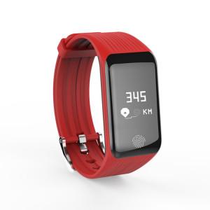 TLW B3 Fitness Tracker 0,66 pouce OLED Bracelet Bracelet Smart Bracelet, IP67 Étanche, Mode Sport Support / Moniteur de Fréquence Cardiaque Continue / Moniteur de Sommeil / Rappel d'Information (Rouge) SH214R1079-20