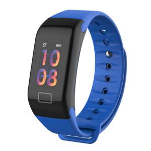 TLW T1 Plus Tracker Fitness 0.96 pouce Bracelet Smart Bracelet Couleur, IP67 Étanche, Mode Sport Support / Moniteur de Fréquence Cardiaque / Pression Artérielle / Moniteur Sommeil / Rappel d'Appel (Bleu) SH215L1767-20