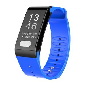 TLW T6 Fitness Tracker 0,96 pouce OLED Bracelet à bracelet à puce, Support Sports Mode / ECG / moniteur de fréquence cardiaque / pression artérielle / moniteur de sommeil (bleu) SH216L388-20