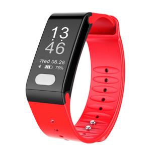 TLW T6 Fitness Tracker 0,96 pouce OLED Bracelet à bracelet à puce, Support Sports Mode / ECG / moniteur de fréquence cardiaque / pression artérielle / moniteur de sommeil (rouge) SH216R1450-20