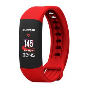 TLW B6 Fitness Tracker 0.96 pouces TFT Bracelet Bracelet Smart Bracelet, IP67 Étanche, Mode Sport Support / Moniteur de Fréquence Cardiaque Continue / Moniteur de Sommeil / Rappel d'Information (Rouge) SH687R19-20