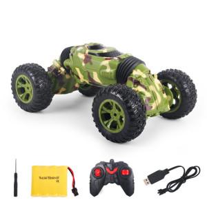 1086 rechargeable 4 canaux de déformation Stunt Twisting Car Toy Car (Vert) SH158G1836-20