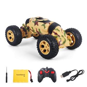 1086 rechargeable 4 canaux de déformation Stunt Twisting Car Toy Car (jaune) SH158Y1292-20
