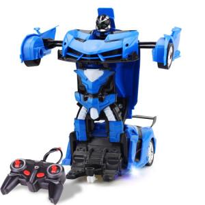 1023 Voiture miniature (voiture bleue) déformée à distance à 4 canaux SH159L1793-20