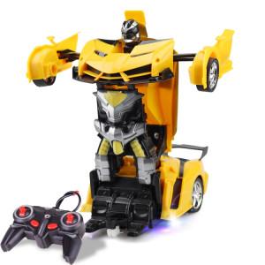 1023 voiture de jouet de voiture déformée à distance à 4 canaux (jaune) SH159Y1914-20