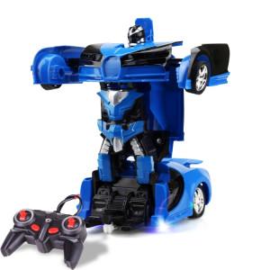 1023 Voiture miniature (voiture bleue) déformée à distance à 4 canaux SH161L1564-20