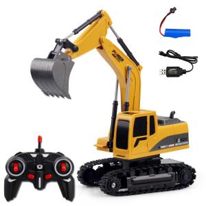 258-1 excavatrice en plastique d'ingénierie commandée à distance à 6 canaux 2.4G 1 / 24RC chargeant la voiture de RC SH01641728-20