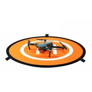 Tablier de stationnement portatif Quadricoptère à drone RC Coussin d'atterrissage à repliement rapide Stationnement Tarmac pour DJI Mavic Pro / Phantom 3/4, diamètre 75 cm (Orange + Bleu) SH795E1610-20