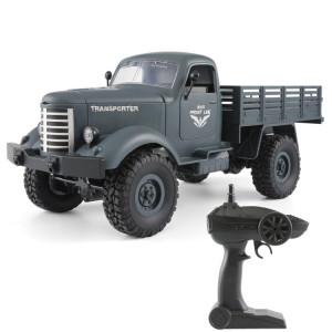 JJR / C Q61 Transporter-2 Full Body 1:16 Mini 2.4GHz RC 4WD Sur Chenilles Jouet De Voiture Militaire Off-Road (Bleu) SJ220L1257-20