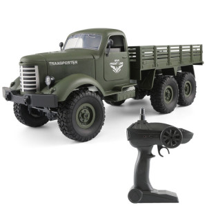JJR / C Q60 Transporter-1 Full Body 1:16 Mini 2.4GHz RC 6WD Tracked Jouet de Voiture de Camion Militaire Off-Road (Vert Armée) SJ21AG536-20