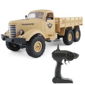 JJR / C Q60 Transporter-1 Full Body 1:16 Mini 2.4GHz RC 6WD Sur Chenilles Véhicule Militaire Voiture Jouet (Jaune) SJ221Y1009-20