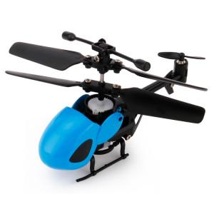 QINSONG QS5012 2CH Infrarouge Mini RC Hélicoptère, Taille: 9cm x 5cm x 2cm (Bleu) SQ335L1627-20