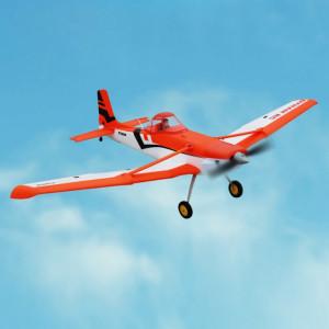 Dynam DY8967BNP Cessna 188 Crop Duster 1500mm Wingspan RC Trainer Avion modèle Avion, y compris 2.4 GHz Récepteur avec 6-Axe Gyro, Version BNP (Orange) SD709E814-20