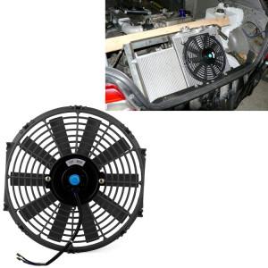 12 V 80 W 12 pouce De Voiture Ventilateur De Refroidissement Haute Puissance Modifié Réservoir Ventilateur De Refroidissement Ventilateur Puissant Auto Ventilateur Mini Climatiseur pour Voiture (Noir) S1193B82-20