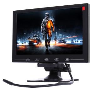 9,0 pouces 800 * 480 caméras de surveillance de voiture moniteur avec support d'angle réglable et télécommande, soutien VGA / HDMI / AV (noir) SH315B1065-20