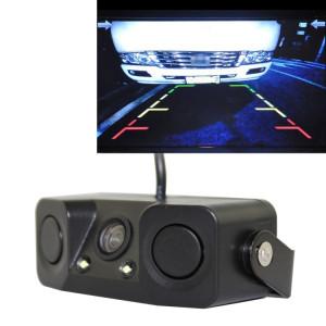 Caméra de voiture PZ-451 LED allume le capteur de stationnement 3 dans 1 moniteur de caméra de vision nocturne avec sonnerie, DC 12V, 720 x 504 pixels, angle de l'objectif: 120 degrés SH06501163-20