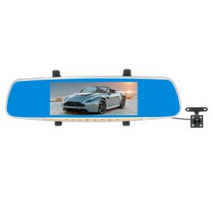 V100 7 pouces LCD écran tactile arrière rétroviseur enregistreur de voiture avec appareil photo séparé, 170 degrés de grand angle de visualisation, soutien Vision nocturne / boucle vidéo / détection de mouvement / SH1356388-20