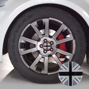 4 pcs drapeau national en métal voiture autocollant moyeu de roue chapeaux centre couvercle décoration SH17631963-20