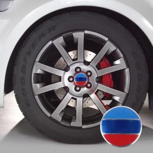 4 pcs drapeau national en métal voiture autocollant moyeu de roue chapeaux centre couvercle décoration SH17641983-20