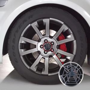 4 pcs moyeu de roue autocollant de voiture en métal araignée chapeaux décoration de couverture de centre SH1768751-20