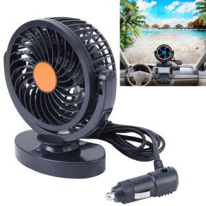 Huxin HX-T305 3W 360 degrés de rotation réglable à faible bruit Mini ventilateur de voiture électrique, DC 12V SH20161906-20