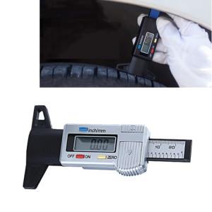 0-25mm Électronique Numérique Plan de la bande de roulement Rectifiant Ronds Reciblage Résultat Existe Tread Tablettes Type Jauge Profondeur Vernier Caliper Outils de mesure (Argent) S0878S1524-20