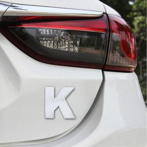 Autocollant autocollant autocollant 3D anglais de la lettre K d'emblème d'insigne de véhicule de voiture, taille: 4.5 * 4.5 * 0.5cm SH271L1366-20