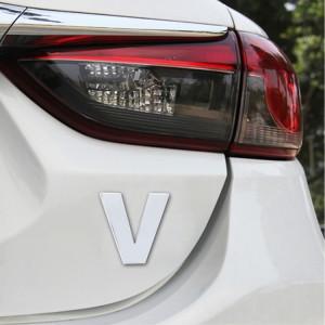Autocollant autocollant autocollant 3D anglais lettre V emblème de véhicule de voiture, taille: 4.5 * 4.5 * 0.5cm SH271X1091-20
