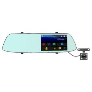 G705 5 pouces LCD tactile rétroviseur voiture enregistreur de voiture avec caméra séparée, 170 degrés de grand angle de vision, vidéo de boucle de soutien / détection de mouvement / G-Sensor / TF carte SH3320111-20