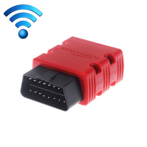 KW902 Mini WiFi OBDII Voiture Auto Diagnostic Scan Outils WIFI Auto Scan Adaptateur Outil de Scan Support Android et Apple Système (Rouge) SK238R1173-20
