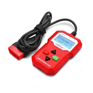 KW590 Mini Auto OBDII Auto Diagnostic Outils de numérisation Auto Scan adaptateur outil de balayage (peut seulement détecter 12V essence voiture) (Rouge) SK239R915-20