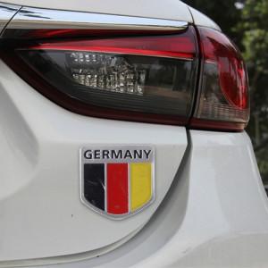 Autocollant de voiture en métal de style drapeau allemagne SH52821348-20
