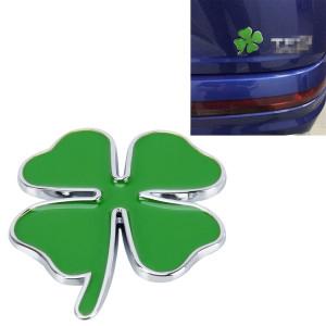 Trèfle À Quatre Feuilles Herb Chance Symbole Insigne Emblème Étiquetage Autocollant Styling De Voiture Tableau De Bord Décoration, Taille: 4 * 3.3 cm SH49821702-20