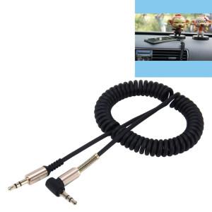 3.5mm 3 pôles Mâle à Mâle Audio AUX Câble enroulable rétractable, Longueur: 1.5m (Noir) S3728B924-20