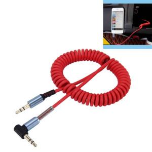 3.5mm 3 pôles Mâle à Mâle Plug Audio AUX Câble enroulé rétractable, Longueur: 1.5m (Rouge) S3728R352-20