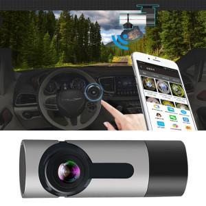 G6 DVR de voiture vidéo Full HD 1080P grand angle 170 degrés, prise en charge de la carte TF / WIFI / enregistrement en boucle, avec fonction de vision nocturne Starlight (argent) SH881S1692-20