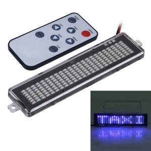 Panneau de signalisation programmable d'affichage de défilement de message de vitrine de voiture de CC 12V LED avec la télécommande (lumière bleue) SH76BL1666-20