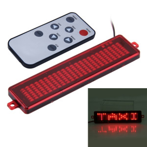 Panneau de signalisation programmable de message de vitrine de voiture de CC 12V LED faisant défiler l'affichage avec la télécommande (lumière rouge) SH76RL732-20