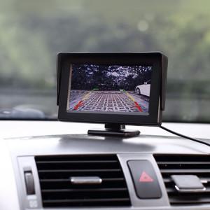Moniteur universel de haute définition de voiture de 4,3 pouces avec le support d'angle réglable, fonction automatique d'écran d'inversion de soutien SH66281952-20