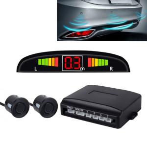 Système de radar de secours inversé de sonnerie de voiture Premium Quality 2 Capteurs de stationnement Système de radar de secours inversé de voiture avec écran LCD (noir) SH84901302-20