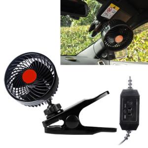 Huxin HX-T602 6.5W 4.5inch 360 degrés réglable Clip de rotation une tête à faible bruit Mini voiture électrique Fan avec interrupteur, DC24V SH88391056-20