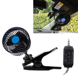 Huxin HX-T601 4 W 4.5 polegada 360 degrés réglable Clip de rotation une tête à faible bruit Mini voiture électrique ventilateur avec interrupteur, DC12V SH8842862-20