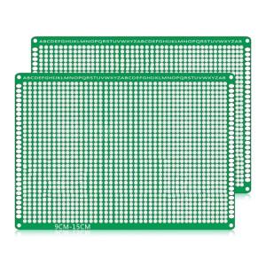 2 PCS LandaTianrui LDTR WG032 / D4 panneau de prototype de carte PCB de planche à pain de fibre de verre double-face, taille: 9 x 15cm S217111182-20