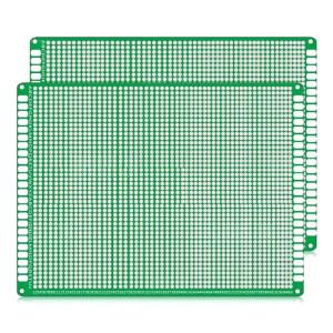 2 PCS LandaTianrui LDTR WG032 / D5 panneau de carte PCB de planche à pain de prototypage de fibre de verre double-face, taille: 12 x 18cm S217121815-20