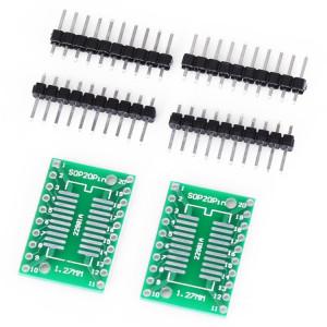 2 PCS Landa Tianrui LDTR YJ032 / D Double-côté SOP20 / SSOP20 / TSSOP20 SMD à DIP20 carte d'adaptateur pour Arduino S29920343-20