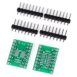 2 PCS Landa Tianrui LDTR YJ032 / C SOP16 / SSOP16 / TSSOP16 SMD à DIP carte adaptateur double face pour Arduino S29921275-20